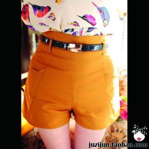 pag26_2012-primavera-ed-estate-moda-vintage-a-vita-alta-onde-foglia-di-loto-laciness-pantaloncini-vestito