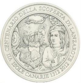 Medaglia celebrativa del VII centenario della scoperta di Lanzarote