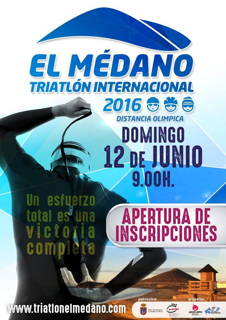 CARTEL ABIERTO Triatlon El Medano 2016